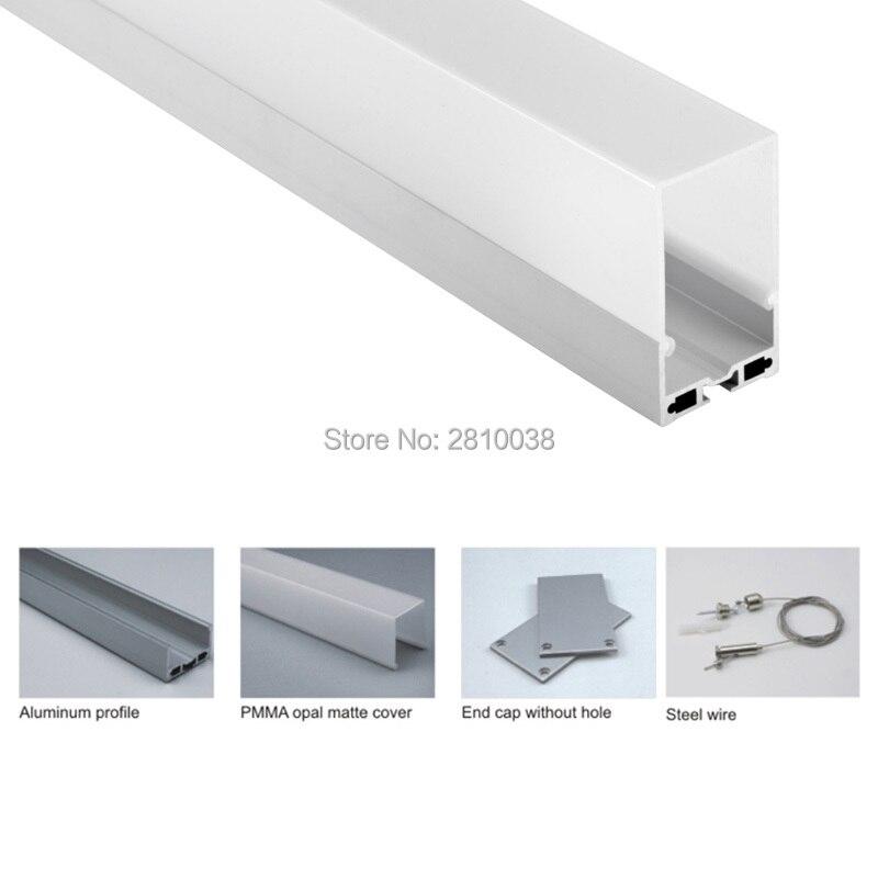 perfil de aluminio para a tira m lote escritorio iluminacao conduzida luz 04