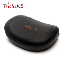Triclick Motorcycle Rear Backrest Sissy Bar Cushion Pad Pads For Harley Yamaha Honda Suzuki Kawasaki Choppers Bikes