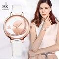 Shengke Uhren Frauen Marke Mode Lederband Damen Armbanduhr 2019 Neue SK Frauen Leder Uhren frauen Tag Geschenk # K0088-in Damenuhren aus Uhren bei