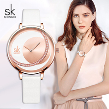 Shengke Watches Women Brand Fashion Leather Strap Ladies Wrist Watch 2019 New SK Womens Day Gift #K0088