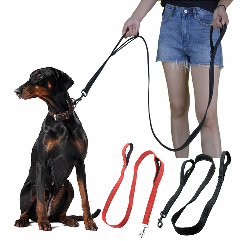 Dog Leash Softy Double 2 Handles Control Leashes Reflective Nylon Rope Dog Pet Leash Leads Collar For Medium Large Dog Supplier in Leashes from Home Garden