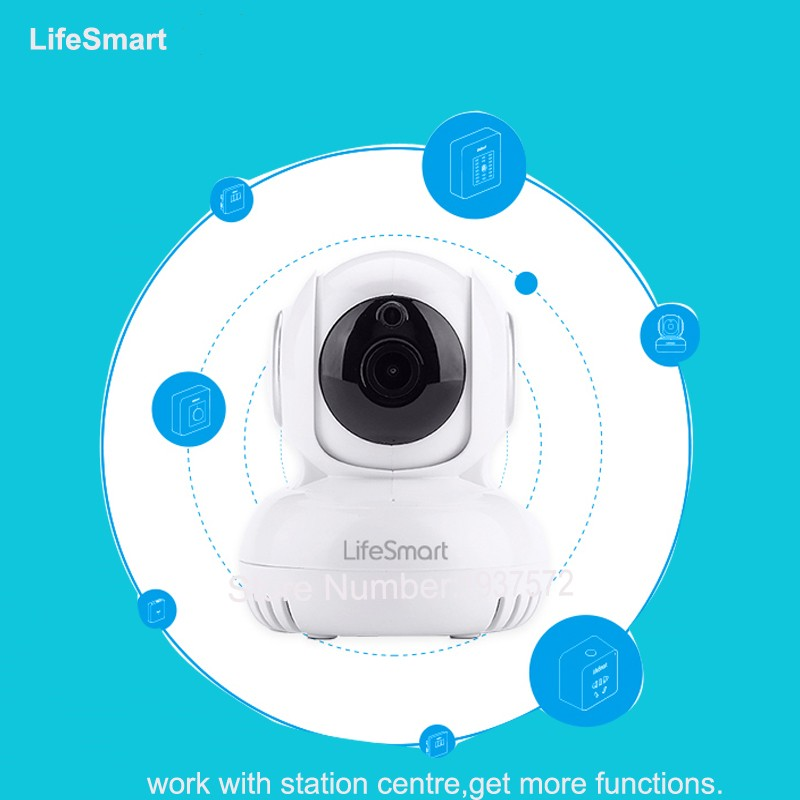 2-Lifesmart Home Automation Smart IP Camera Wifi Wireless Remote Control CCTV Camera for Security Alarm Night Vision 720P NTSCPAL
