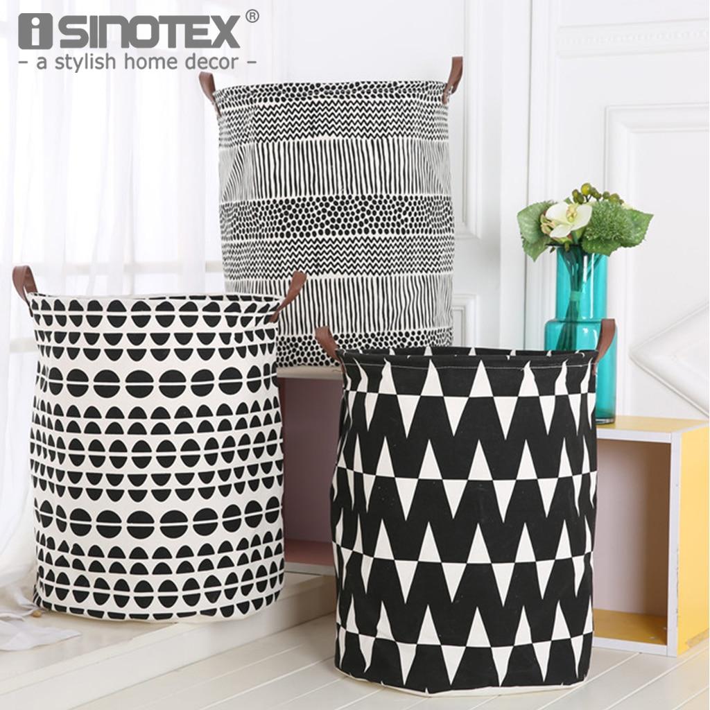 Canvas Fabric Beige Toy Sundries Storage Bag Box Case