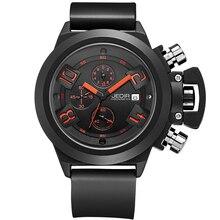 2016 JEDIR Fonction CHRONOGRAPHE Hommes Montres Top Marque De Luxe de Silicone de Sport Montres Hommes Horloge Mâle Montre À Quartz relojes