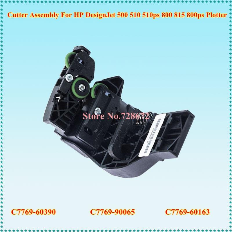 Original New C7769-60390 C7769-90065 C7769-60163 einkshop Cutter Assembly For HP DesignJet 500 510 510ps 800 815 800ps plotter c7769 60407 vacuum fan assembly for hp designjet 500 800 815 820 original used