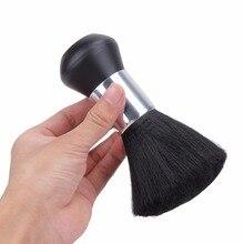Moda Peluquería Cuello Duster Soft Brush Peluquería del Corte del Salón Estilista de Pelo Roto Cepillo De Limpieza de Barrido Negro
