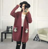 Autumn New Maternity Knit Coat Long Cardigan Fashion Thin Loose Pregnant Women Sweater Large Size Maternity