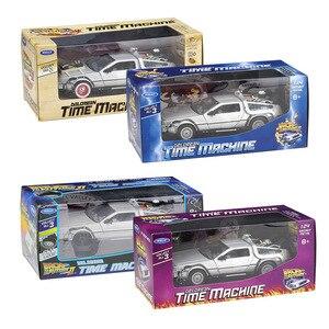 Image 4 - WELLY 1:24 ダイキャストシミュレーションモデル車 DMC 12 Delorean 時間にマシン将来車のおもちゃ金属おもちゃの車のギフトコレクション