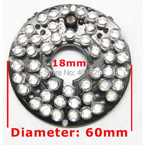 48 LEDs 5mm Infrared IR 60 Degrees Bulbs Board 850nm Illuminator For CCTV Camera 48 leds 5mm infrared ir 60 degrees bulbs board 850nm illuminator for cctv camera