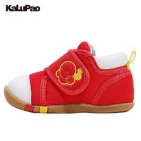 Kalupao الطفل الفتيات الفتيان أحذية الأولى مشوا أول خطوة الأحذية الصحية الموضة احذية عادية قماش أحذية لينة وحيد طفل