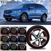 цена на 8M Car Wheel Hub Rim Edge Protector Ring Tire Strip Guard Rubber Decals For Volvo XC60