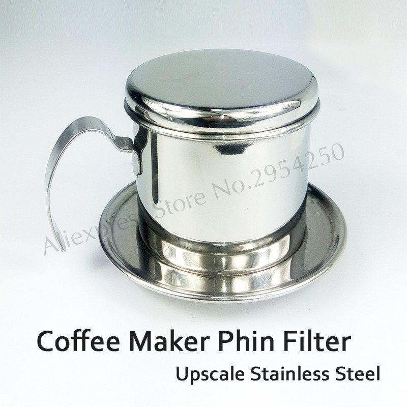 Drip Coffee Maker Stainless Steel : Stainless Steel Coffee Drip Filter Cup Maker Infuser Handle Drip Brewer for Ca phe Upscale Brand ...