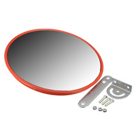 NEW 30 Cm Wide Angle Security Curved Convex Road Mirror Traffic Driveway Traffic Signal Roadway Safety