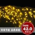 Iluminação do feriado jardim lâmpadas estrela corda iluminação de poupança de energia 220 V 110 V luz da corda para o natal de cordas da lâmpada de gelo casamento