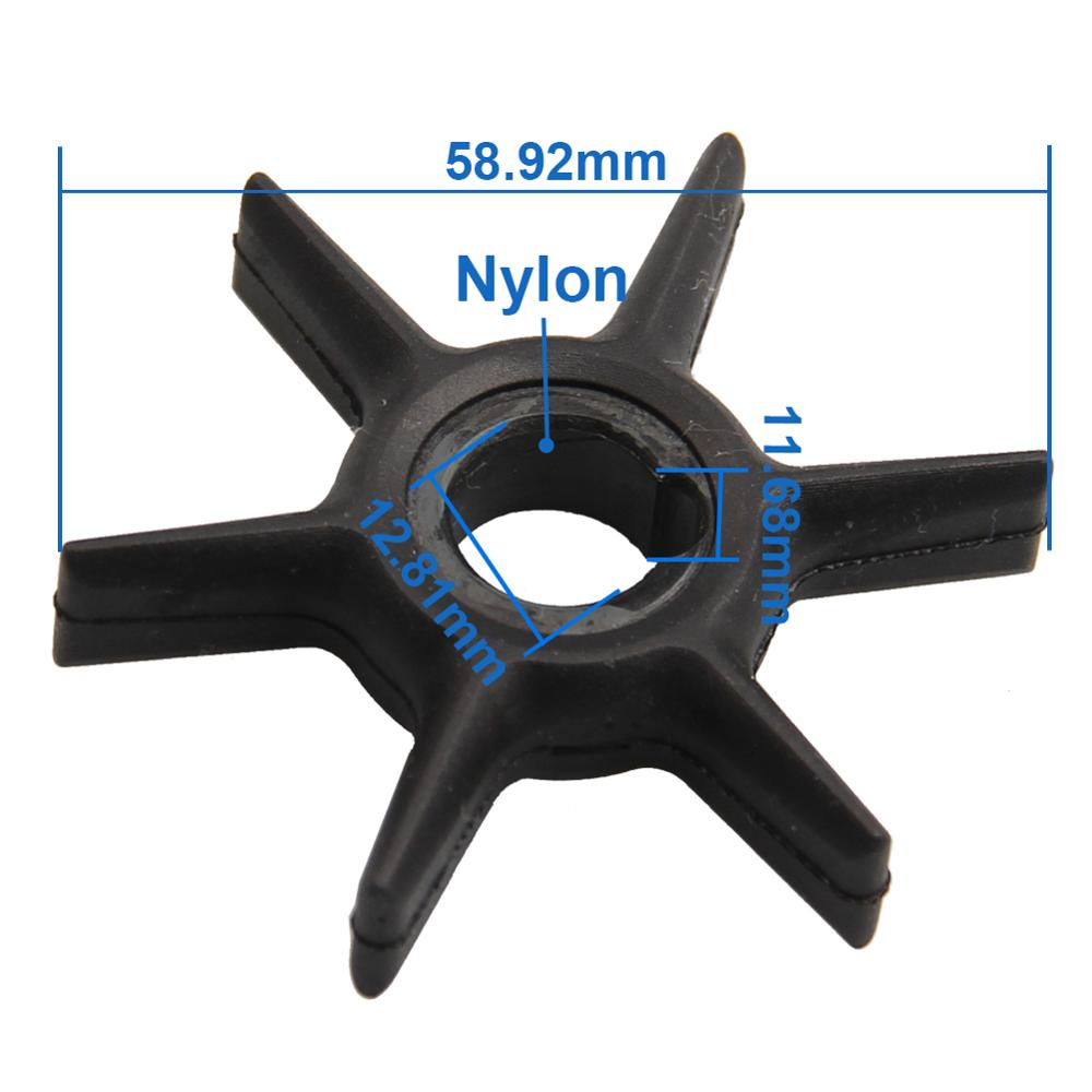 CarBole Water Pump Impeller For Mercury 47-42038 47-42038-2 47-42038Q02 18-3062 4.8-9.9-10-15 HP