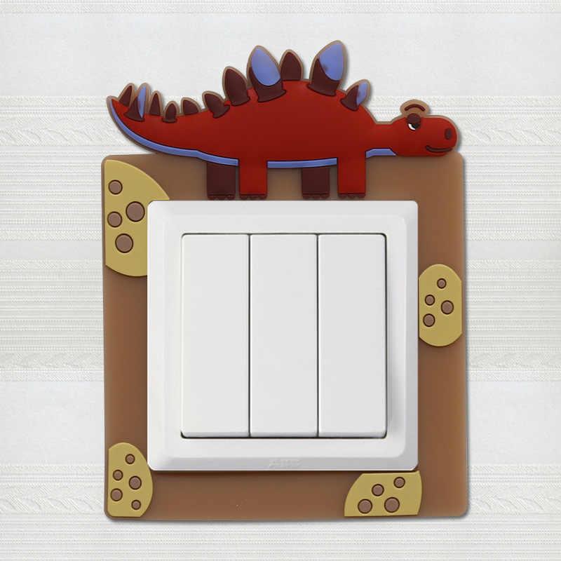 4 типа светящийся стиральная Переключатель стикер мультяшка чехол с изображением животного современный простой гостиной спальни творческий Разъем набор переключателей