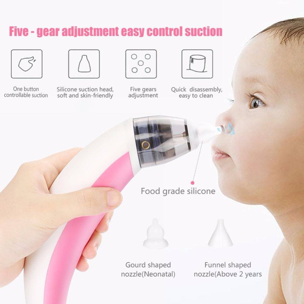 Electric Baby Nasal Aspirator Nose Cleaner Safe Hygienic Nose Snot Sucker Nasal Suction Machine For Newborn Infant Toddler Tools baby nose sucker toddler satety nasal digital nose cleaning machine kids child seago newborn electronic eaner suction nose cl