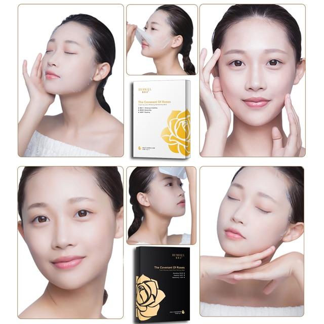HEMEIEL SOMILD Hyaluronic Face Mask Natural Essence Whitening Moisturizing Bubble Mask Facial Skin Care Korean Treatment Mask 4