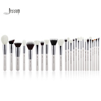 Jessup Pearl Pearl White Silver Professional Makeup Brushes Set Make Up Brush Tools Kit Foundation Powder