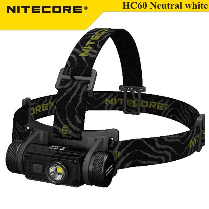 Nitecore HC60 XM-L2 U2 1000LM Neutral White Rechargeable LED Headlight Flashlight +18650 Battery For Outdoor Sports oasis hc 30 l white