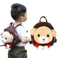1 5 years Kids Anti lost backpack 3D Animal Backpacks Baby Girls Boys Schoolbag Children Cartoon beer unicorn monkey travel bag