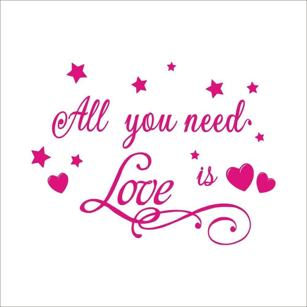 Alle U Liefde Engels Tekst Patroon Muursticker Trouwzaal