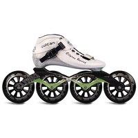 Cityrun Original Speed Inline Roller Skates Professional Competition Skating Patines Carbon Fiber 4 Wheel Skating Shoes SH53F043