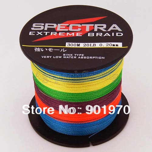 Free shipping discount 5 colours extreme brand braid for 20 lb braided fishing line