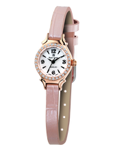 f37311ea895 Royal Crown joyería reloj 6539 Italia marca diamante Japón MIYOTA Rosa  correa de cuero relojes mujer