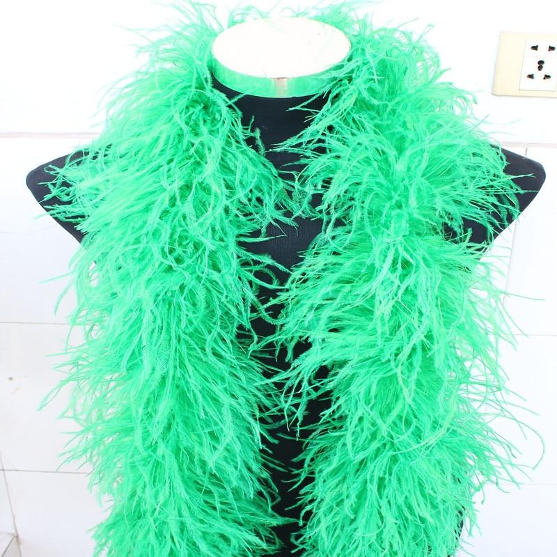 YOYUE 2 metry 6 warstwa zielony naturalne strusie pióra Boa jakości puszyste kostiumy/tapicerka na imprezę/kostium/ szal/dostępne w Pióro od Dom i ogród na  Grupa 1