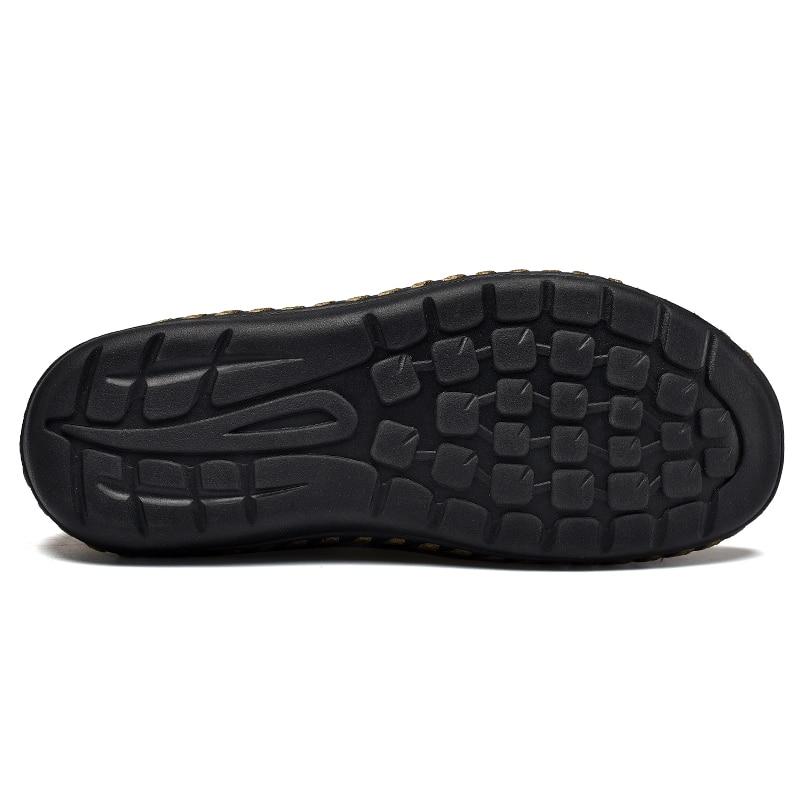 NINYOO Handmade Marke Schuhe Männer Echtes Leder Freizeitschuhe - Herrenschuhe - Foto 4