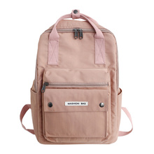 New Women's Backpack Female School Bag for Girls Fashion Waterproof Nylon Backpacks Ladies Casual Black Pink Travel Bags 2019