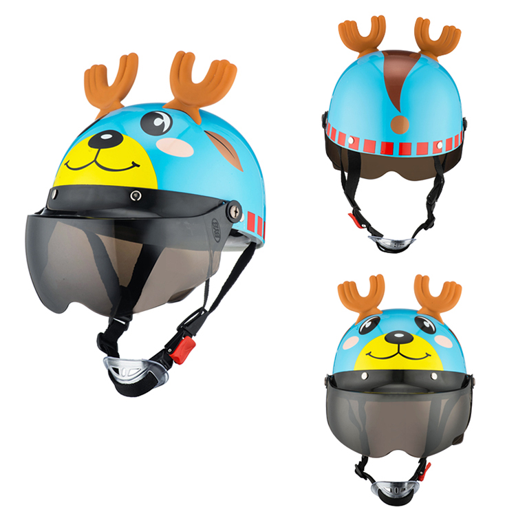Image 4 - Unisex Flip Up Motorcycles Helmets for 3 10 Years Child Riding Snowboard Banlance Bike Scooter Motorbike Back Seat Safety Helmet-in Helmets from Automobiles & Motorcycles