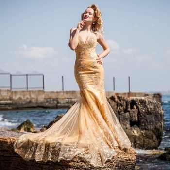 Off the Shoulder Long Dress Plus Size Mermaid Evening Dress 2019 Glod Lace Appliques Formal Dress Robe De Soiree gece elbisesi - DISCOUNT ITEM  37% OFF All Category