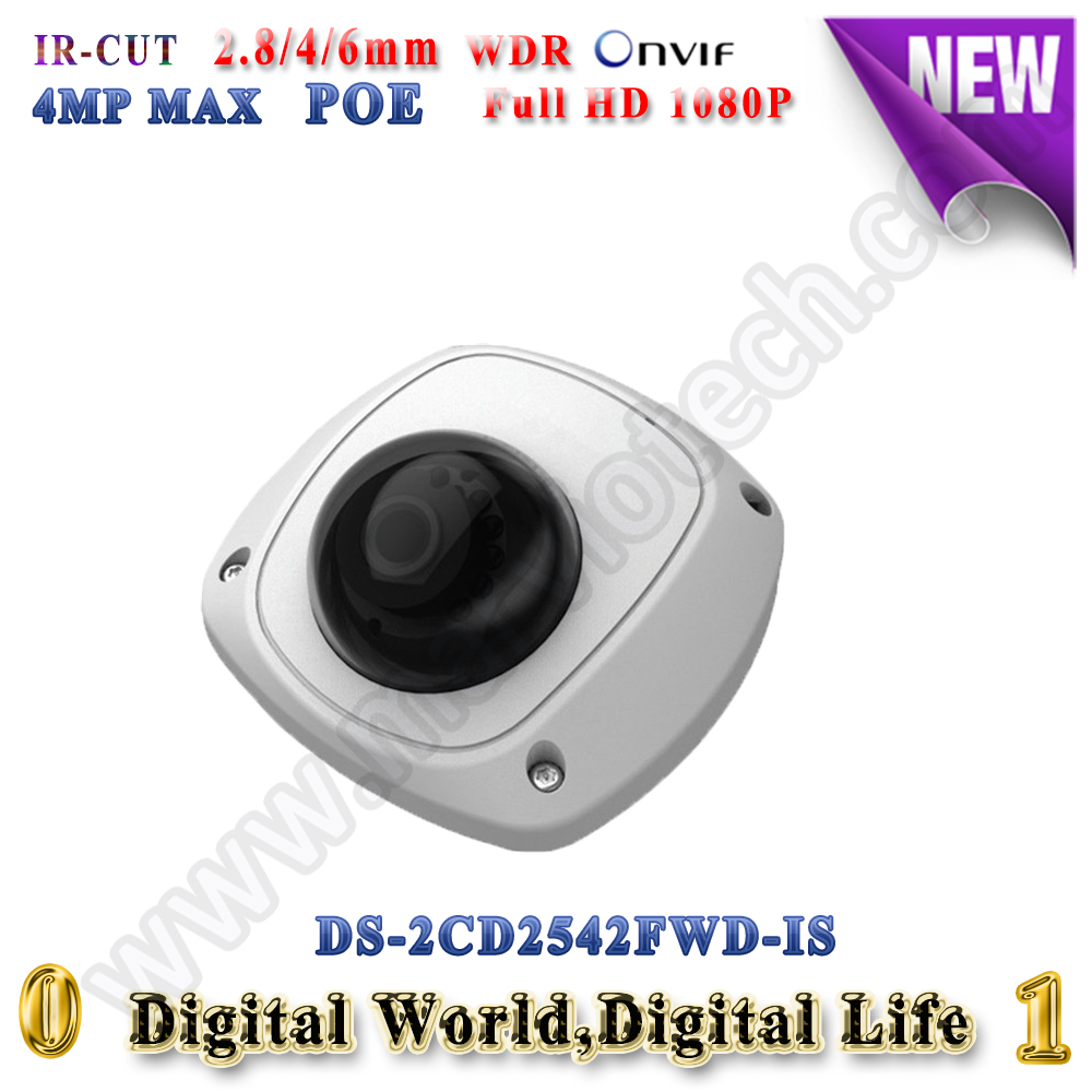 DS-2CD2542FWD-IS hikvision ip camera 4mp poe ip cameras outdoor WDR Video Surveilance camera mini audio alarm TF Card slot change up intermediate teachers pack 1 audio cd 1 cd rom test maker