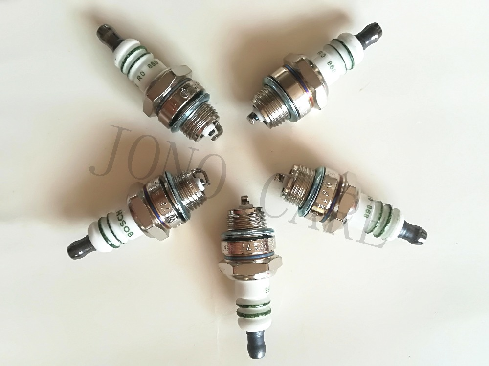 5pcs High Quality L7T Chainsaw Spare Parts And Brush Cutter Spark Plug For Bosch WS7F R10