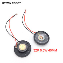 2pcs/lot New Ultra-thin Toy-car horn 32 ohms 0.5 watt 0.5W 32R speaker Diameter 40MM 4CM with PH2.0 terminal wire length 10CM