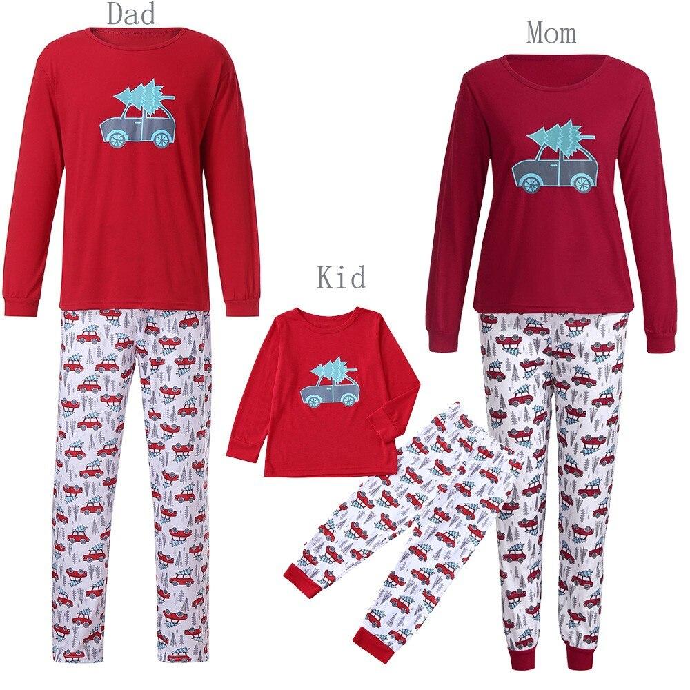 Fashion Printed Man Christmas Long Sleeve Man Family Pjs Matching Christmas Pajamas Set Blouse + Santa Pants Home Clothes