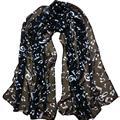 winter women scarf chiffon neckerchief girl shawl Musical Note printing muffler cute female Muffler warm Scarves Tippet 156x50cm