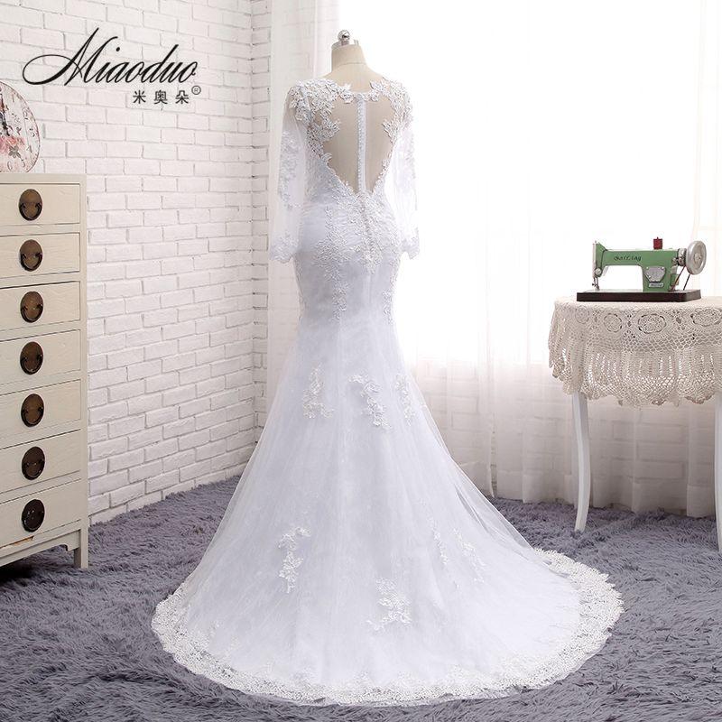 Miaoduo Hochzeit Kleid 2018 Meerjungfrau Hochzeitskleid Sexy Back ...