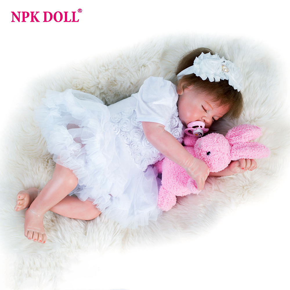 20 inches Reborn Doll Silicone Toys for girl bebe reborn Baby Doll Toddler Girl Sleeping baby toys for children brinquedos lol hot sale toys 45cm pelucia hello kitty dolls toys for children girl gift baby toys plush classic toys brinquedos valentine gifts