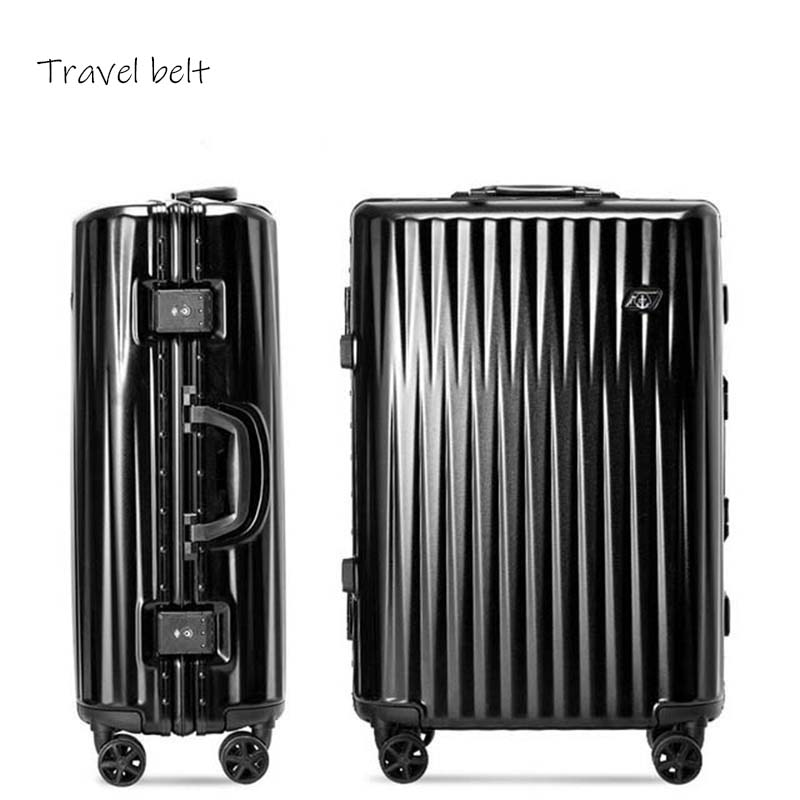 Travel Belt New Style high quality 100 aluminum frame Rolling Luggage Spinner brand Travel Bags fashion