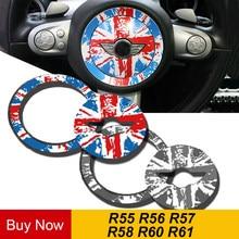 PVC Vinil direksiyon Merkezi Araba Sticker Çıkartması Iç Dekorasyon MINI COOPER JCW S Countryman R55 R56 R57 R58 R60 r61