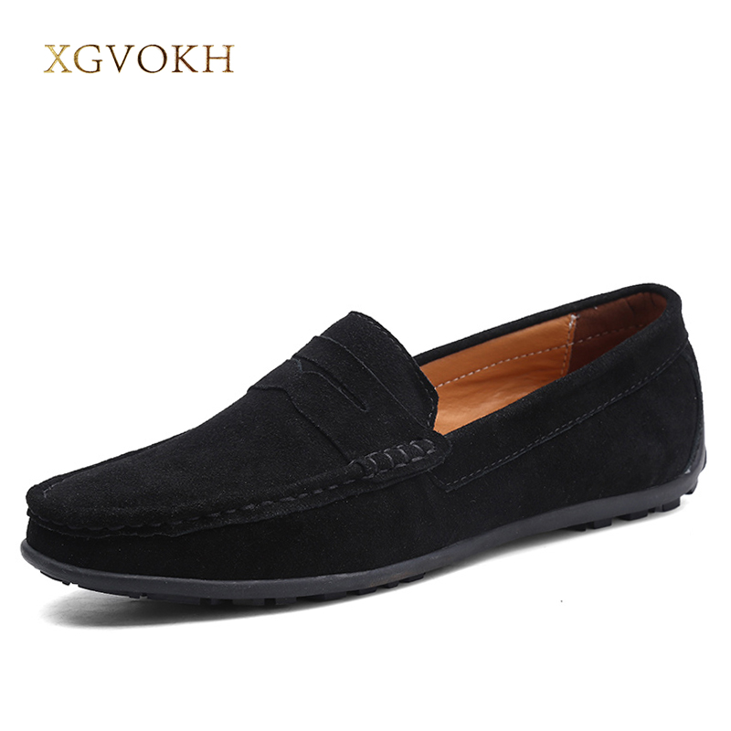 Mens shoes Cow Suede Leather Moccasin Loafers Driving Casual Slip On Shoes XGVOKH Brand Spring /Autumn Fashion Men's Casual boat