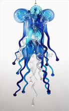 лучшая цена Free Shipping Home Villa Flower Hand Blown Art Glass Chandelier Lighting
