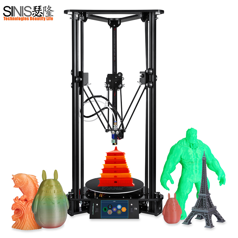 Touch Screen 3D Printer With Laser Engraving Auto Change Material Intelligent Leveling Triangle Delta Assembly Kit 3d Printer