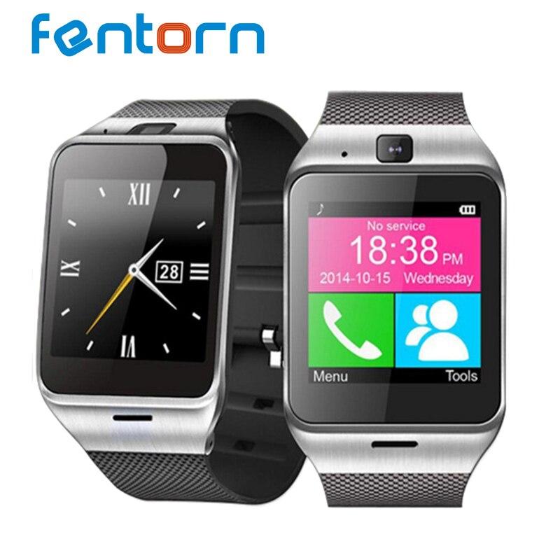 imágenes para Fentorn GV18 Notificador de Sincronización Del Reloj Inteligente Tarjeta Sim Soporte para teléfono Android 1.3 millones de píxeles de la cámara SMS de Alarma reloj de Pulsera