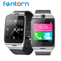 Fentorn GV18 Smart Watch Sync Notifier Support Sim Card for Android phone 1.3 million pixel camera SMS Alarm clock Wristwatch