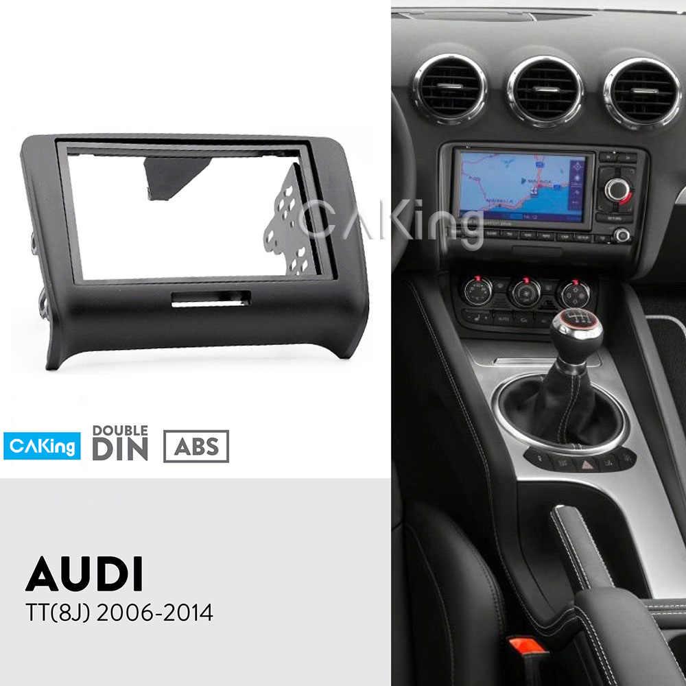 double din car fascia radio panel for audi tt (8j) 2006-2014 dash
