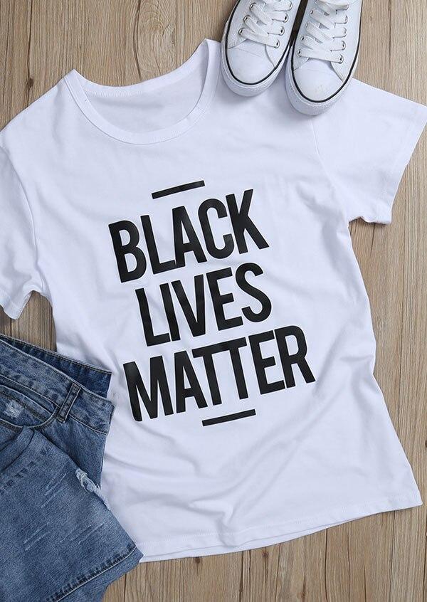 BLACK LIVES MATTER slogan t-shirt summer cotton women fahsion tees 90s girl unisex tops grunge aesthetic camisetas tumblr tshirt